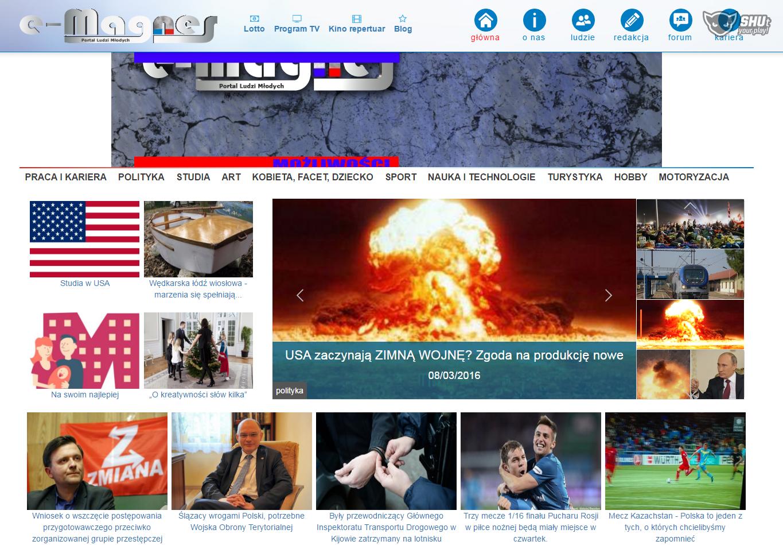 Powstał nowy portal www.e-magnes.pl